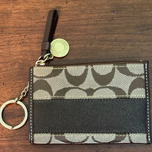 Coach Mini Keychain Wallet/ID Holder